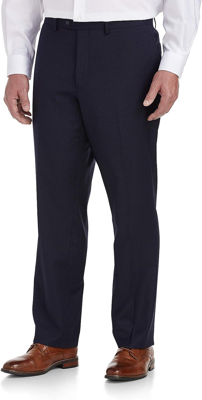 Jack Victor Reflex Mini Grid Stretch Suit Pants, Navy