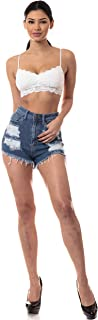 Aphrodite Ripped Denim Shorts for Women - Distressed Casual Spring Summer Fashion Hot Pants Short Jeans