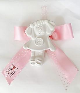 SEGNAPOSTO Comunione angioletto Bomboniere battesimo nascita con gessetto profumato rosa celeste lilla beige ecrù PERSONAL...