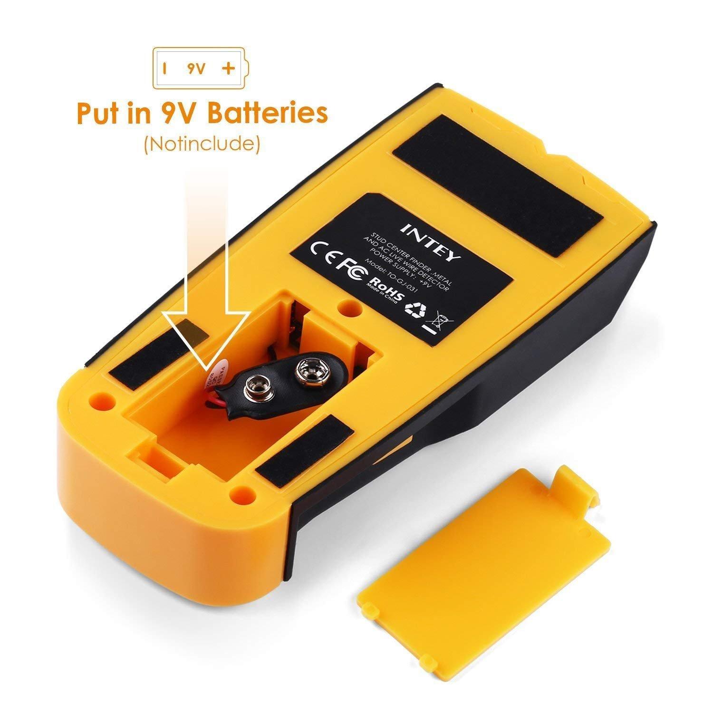Detector De Pared 3 EN 1 Pantalla LCD Detector De Pared para Detecta AC Cable ,Metal Tuber/ías,Madera En La Pared DCemento,Azulejos INTEY