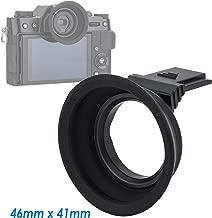 JJC Kiwifotos KE-XT20 Large Soft Silicon Camera Eyecup for Fuji X-T30 X-T20 X-T10, Fujfilm XT30 XT20 XT10 Eyepiece, Hot Shot Eyecup Viewfinder, ESP Useful for Eyeglass Users