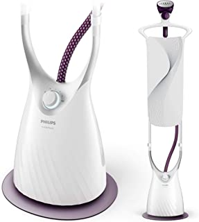 Philips ComfortTouch FlexHead Garment Steamer with Extra-Long StyleBoard & 5 Steam Settings, 2000W, White & Purple Magic, ...