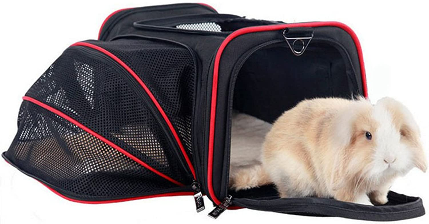 NOTAG Airline Approved Pet Carrier Expandable Soft SideTravel Portable Bag Handbag Shoulder Bag with Fleece Pads and Storage Case for Cats and Small dogs