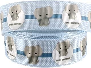 elephant blue ribbon