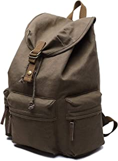 Mens Bag Canvas Backpack Shoulders Bag Cameras Bags Outdoor Sports Bag with Interior Lining & Rain Cover, Size: 50x37x15cm High capacity