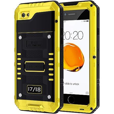 seacosmo Coque iPhone 7, iPhone 8 Coque avec Protecteur D'écran [Antichoc] Full Body 360 Protection Incassable Bumper [Anti-Rayures] Imperméable ...