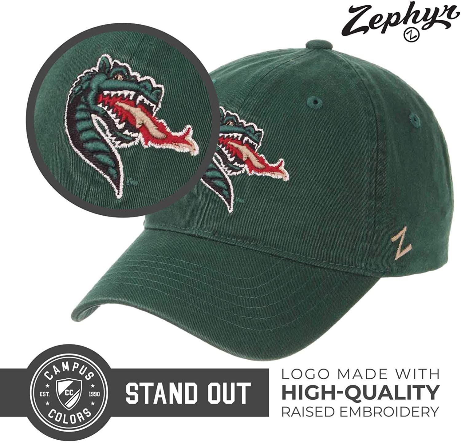 Zephyr Adult NCAA All-American Relaxed Adjustable Hat