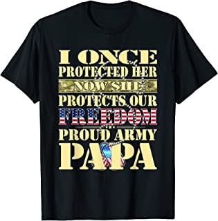My Granddaughter Is A Soldier Proud Army Papa Grandpa Gift T-Shirt