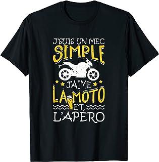 Homme Moto - Je Suis Un Mec Simple Moto Et Apéro - Maillot Motard T-Shirt