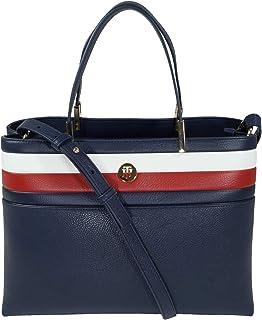 حقيبة كور ساتشيل صغيرة للنساء - لون ازرق - AW0AW08323، من تومي هيلفجر