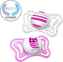Chicco PhysioForma Light Day & Night including Glow In Dark Pacifier for Babies 6-16 Months, Pink, Orthodontic Nipple, BPA...