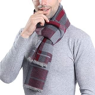 [スポシー] マフラー ストール カシミヤ風 ネックウォーマー ウール リバーシブル メンズ プレゼント ショール