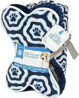 American Kennel Club AKC Paw Print Pet Blanket & Pillow Gift Set