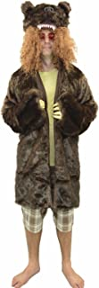 Men's Workaholics Grizzly Bear Coat Costume With Glasses