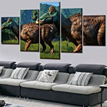 WLHWLH Movie Poster 5 Piece World Evolution Dinosaur Bild 7 Pictures Wall Art Home Decor Modular Painting Canvas HD Print