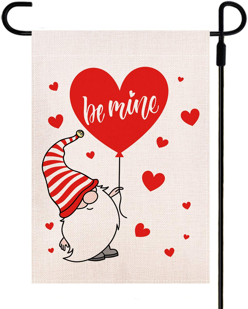 Doncida Branded goods Be Mine Valentine Garden In stock Flag Cu Hand Double Sided Drawn