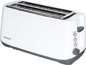 محمصة تحميص بيضاء اللون من SHARP 4 SLICE 1400W KZ-T12-W3