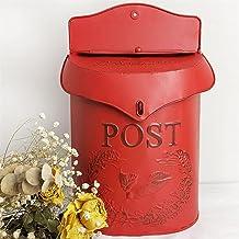 Europese Retro Stijl Oude Verzegelde Advies Krant Brief Doos Metalen Muur Opknoping Creatieve Afsluitbare Postbus Cafe Dec...