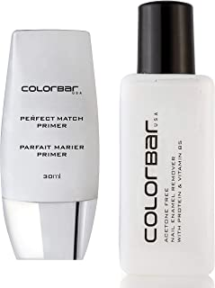 Colorbar Nail Polish Remover, 110ml + Colorbar New Perfect Match Primer, 30ml