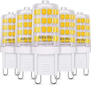 comprar comparacion Albrillo Bombillas LED G9 de 3.5W, 40 W Bombilla Halógena Equivalente, Blanco Cálido 3000K, 400LM, Sin Parpadeos, 360° Áng...