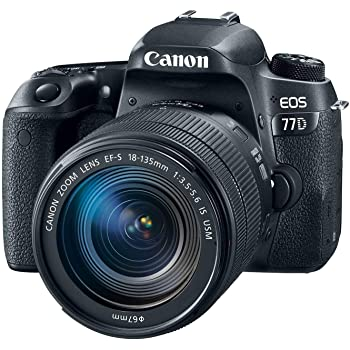 Canon EOS 77D EF-S 18-135 IS USM Kit (Renewed)