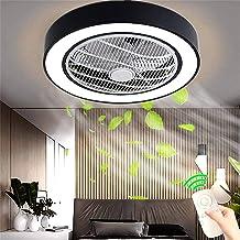 Ventilator Aan Het Plafond Met Verlichting, Ventilator Aan Het Plafond Ventilator LED-Licht, Verstelbare Windsnelheid, Dim...