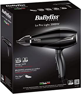 Babyliss BAB6604SDE,AC Dryer 2000W Made in Italy 6604SDE, BLACK,