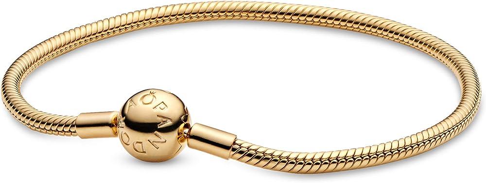 Bracciale pandora moments con maglia snake da donna in argento stearling 925 567107-17