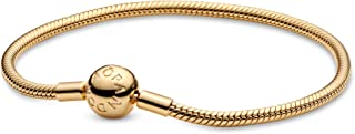 Pandora Women Gold Platted Metal Charm Bracelet