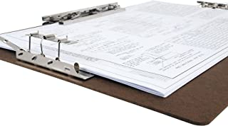 17 x 11 Inches Hardboard/Clipboard with 8-Inch Lever Operated Clip and 2 - 4