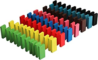 Pack of 120 Authentic Basswood Standard Wooden Kids Domino Rally Building Kits