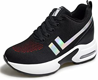 AONEGOLD® Baskets Femmes Compensees Chaussure de Sport Gym Fitness Jogging Voyage Respirantes Mode Sneakers Coussin d'air ...