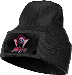 Men Women - Unisex Halloween Michael Myers Logo Knit Hat Cap
