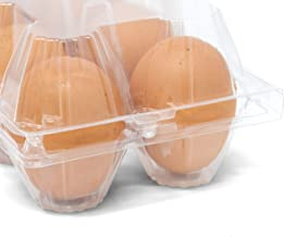 Chicken Egg Cartons, Plastic Chicken Egg Cartons, 50 Pack, by American Heritage Industries