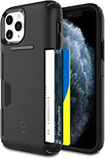 PATCHWORKS iPhone 11 Pro Case [Level Wallet Series] Rugged Hybrid Shockproof Dual Layer TPU + PC Case [Military Grade Drop Test Certified] [Wireless Charging Compatible], Black