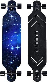 B BAIJIAWEI Drop Through Longboard – 41 Inch Maple Skateboard – Complete..