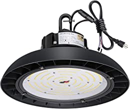 Hykolity 150W UFO LED High Bay Light Fixture, 19500lm 1-10V Dimmable 5000K UL, DLC Complied [250W/400W MH/HPS Equiv.] Motion Sensor Optional, 10 Years Warranty Commercial Warehouse/Outdoor Area Light
