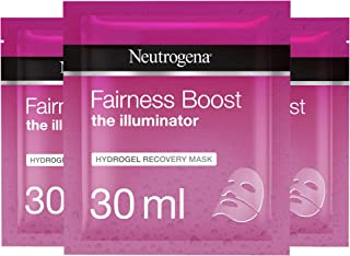 Neutrogena Super Hydrator Hydro Boost Hydrogel Recovery Mask, 30 ml Pack of 3