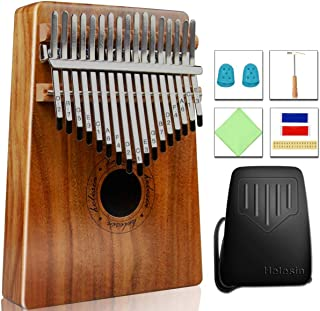 17 Keys Kalimba Thumb Piano, Protable Finger Piano with EVA Waterproof Hard Protective Case, Gift for Kids Adult Beginners
