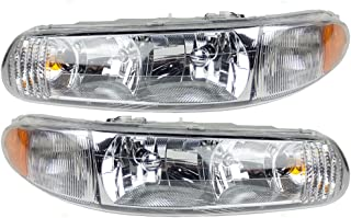 Headlights Headlamps Driver and Passenger Replacements for 97-05 Buick Century & 97-04 Regal 19244639 19244638