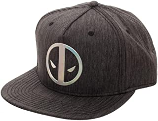 Deadpool Logo Adult Sized Iridescent Weld Woven Snapback Hat Grey
