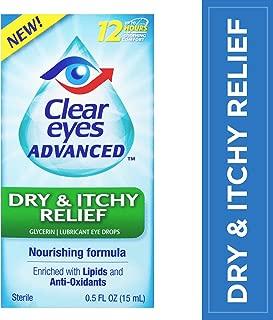 Clear Eyes Advanced   Dry & Itchy Relief Eye Drops   0.5 Fl Oz