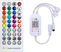 Aourow LED strip afstandsbediening vervanging,44-key IR afstandsbediening met controller voor RGB LED strip(1 op 1 control...