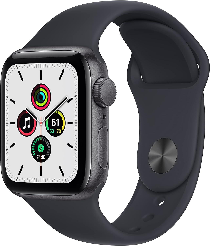 Apple Watch SE (GPS, 40mm) - Space Grey Aluminium Case with Midnight Sport Band - Regular