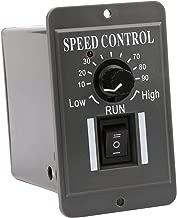 DC Motor Controller, Yeeco DC 10-60V 12V 24V 36V 48V 60V DC Motor Speed Controller, PWM Stepless Brushed Motor Control, Variable Speed Control Generator Kit with Control Switch