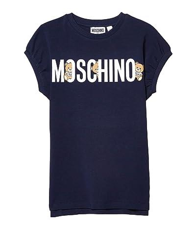 Moschino Kids Hiding Bears Dress (Little Kids/Big Kids) (Navy) Girl