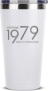 Sodilly 1979 Vintage 16 oz White Stainless Steel Tumbler w/ Lid