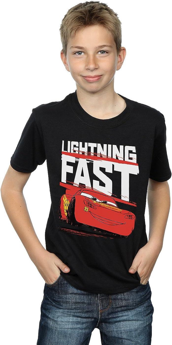 Disney Boys Cars Lightning Fast T-Shirt 7-8 Years Black