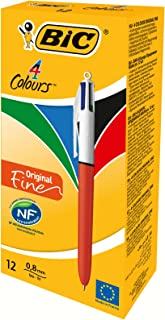 BiC 4 Colour Fine Ballpoint Pen (Box of 12)