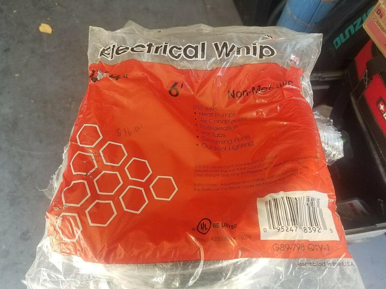 1 Pc of 6' Electrical Whip Non-Metallic Conduit 3/4